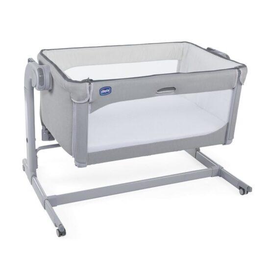 Кроватка-манеж Next2Me Magic Cool Grey 0м+