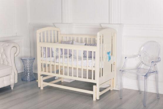 Кровать детская Incanto HUGGE, универсальный маятник, слоновая кость