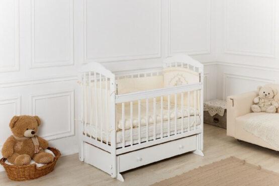 Кроватка детская Incanto Pali, универсальный маятник, с ящиком. Белый