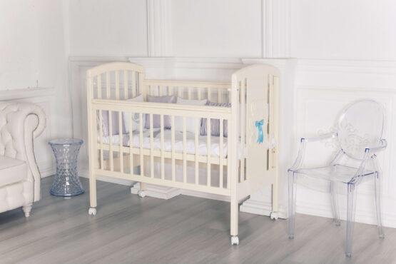 Кровать детская Incanto HUGGE, колесо, слоновая кость