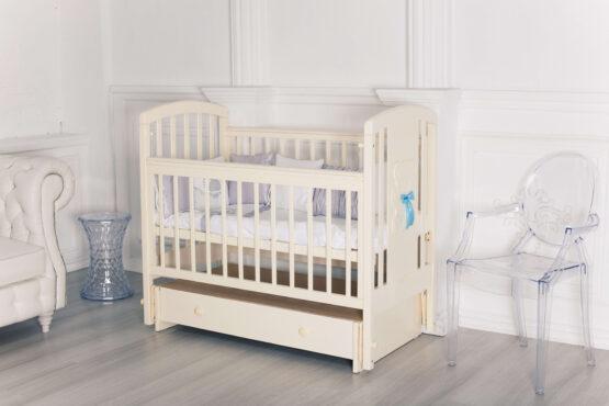 Кровать детская Incanto HUGGE, универсальный маятник, с ящиком, слоновая кость