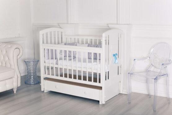 Кровать детская Incanto HUGGE, ун. маятник, белый