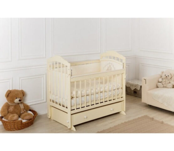 Кроватка детская Incanto Pali, универсальный маятник, с ящиком. Слоновая кость